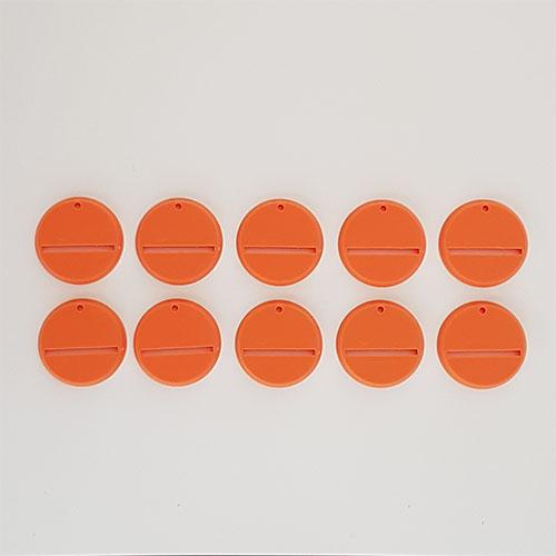 32mm Round Slot Bases Orange