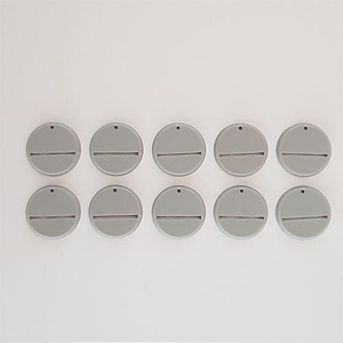 32mm Round Slot Bases Grey