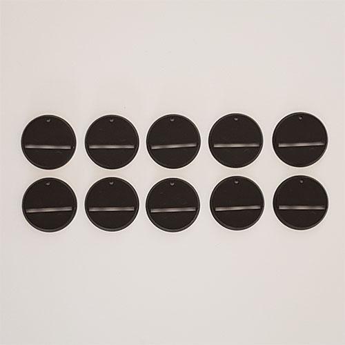 32mm Round Slot Bases Black