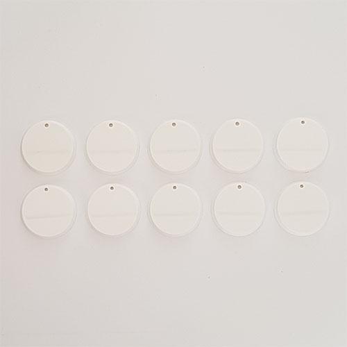 32mm Round Slot Bases White