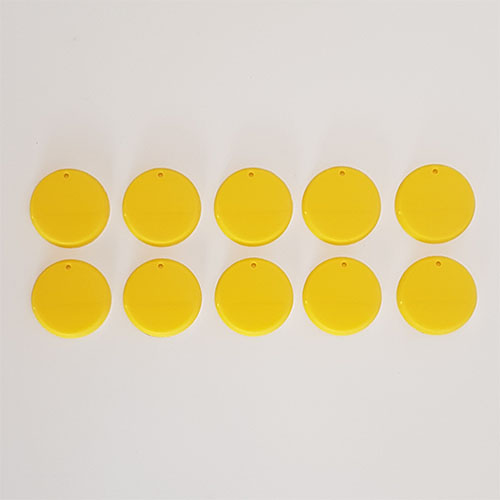 32mm Round Bases Yellow