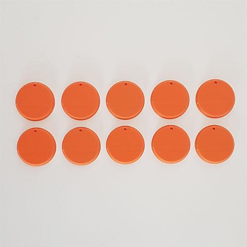 32mm Round Bases Orange