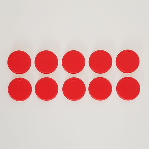 32mm Round Bases Red