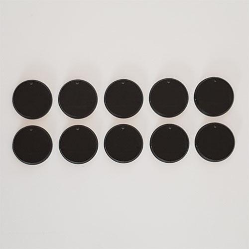 32mm Round Bases Blanck Black