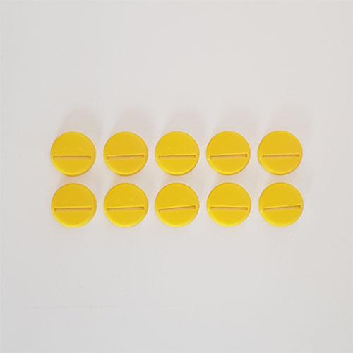 25mm Round Slot Bases Yellow