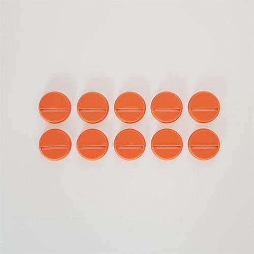 25mm Round Slot Bases Orange