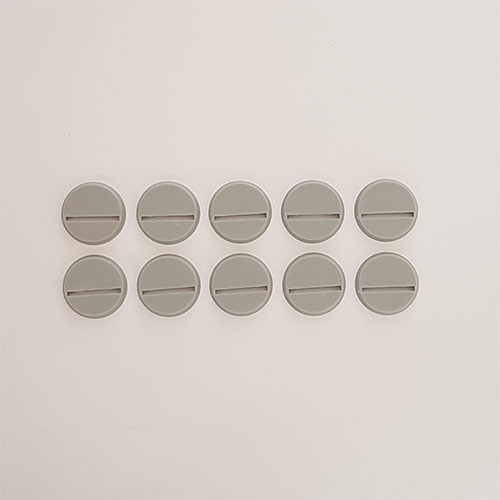 25mm Round Slot Bases Grey