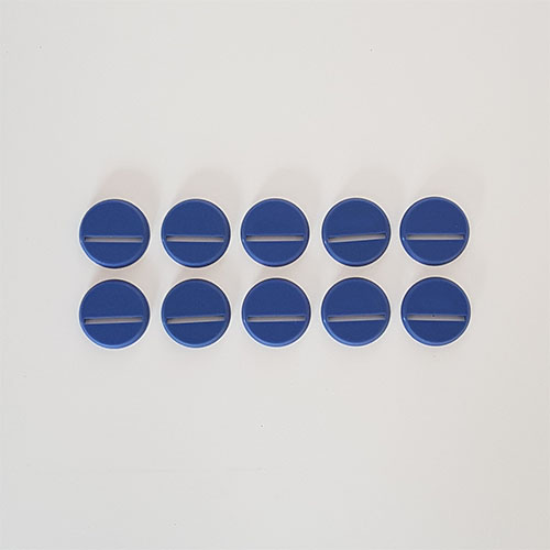 25mm Round Slot Bases Blue